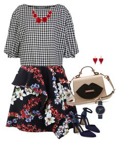 """""""Untitled #1323"""" by renisin on Polyvore featuring MSGM, Sonia Rykiel, Manolo Blahnik, Les Néréides and Nixon"""