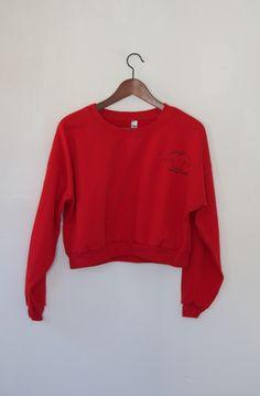 California Fleece Cropped Red Sweatshirt Sweatshirt