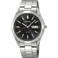 Seiko watches at Kohl's - This men's Seiko stainless steel solar watch is a must-have timepiece. Model no. Come shop our wide selection of Seiko watches at Kohl's. Stainless Steel Watch, Stainless Steel Bracelet, Seiko Solar, Solar Watch, Vegvisir, Skeleton Watches, Seiko Men, Seiko Watches, Citizen Watches
