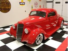 1935 Ford 3 Window $109,000.00 Classic Hot Rod, Classic Cars, Old School Muscle Cars, Welding Rigs, Car Man Cave, Simply Red, Old Fords, Chevy Pickups, Drag Cars