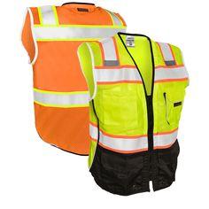 Amarillo Alta Visibilidad Chaleco Chaleco De Seguridad Extra Grande Tamaño por Kew TECHNIX