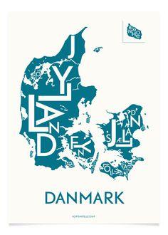 DANMARK - PETROLEUM - 50x70 CM