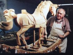 carving carousel horses
