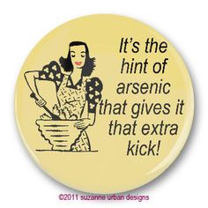 Retro Humor  Magnet Hint of Arsenic for Mystery by SmirkingGoddess, $3.00