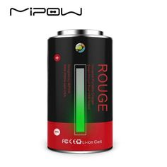 MIPOW Classic Battery Design Portable Charger Power Bank Outdoor Emergency Tube for most Mobile Cell Phone and tablets Battery Sizes, Portable Charger, Solar Energy, Usb, Phone, Classic, Outdoor, Design, Products