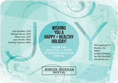 Layered Wishes - Business Holiday Cards in the Lightest Turquoise Blue