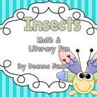 Insects Math & Literacy Fun by Deanna Jump - Go Buggy with this best selling Math and Literacy unit while learning about insects.  Your little entomologists will love this unit!  The unit incl...