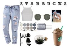 """starbucks"" by abbycollier02 ❤ liked on Polyvore"
