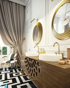 Parisian bathroom - inspiration for your next bathroom remodel?