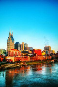 The skyline of downtown Nashville. #Nashville #Tennessee #USA #Skyline