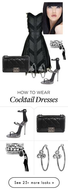 """""""Untitled #1662"""" by janicemckay on Polyvore featuring Chanel, Giuseppe Zanotti and Shameless"""