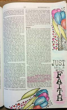 Bible Art ~ Just have a little Faith http://karenismyangel.blogspot.com/