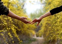 Reach and touch hands with the one you love!
