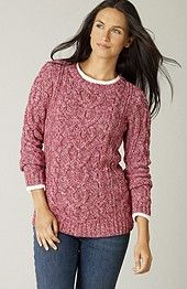 twist cable-knit pullover