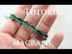 tutorial pulseras macrame finas y faciles - YouTube