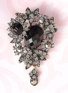 Sparkling shabby chic Vintage style Brooch Pin by rosecarmen, $9.50
