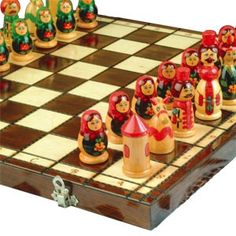 Wooden babuszka chess set...Get me this set and I promise I'll learn to play chess and enjoy it!!