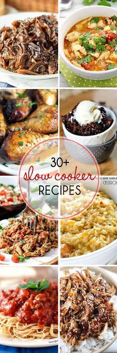 30+ Fabulous Slow Cooker Recipes From thatskinnychickcanbake.com @lizzydo