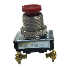 3 Amp 120-Volt AC Spst Momentary Contact Push-Button Switch, Red (Case of 5), Nickel