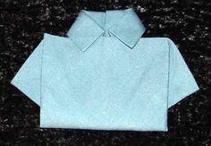 Shirt Napkin Fold  TUTORIAL