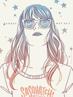 Jenny Lewis show poster - Chelsea Wirtz