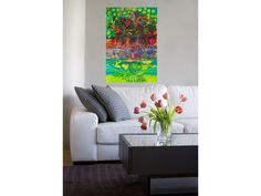 Sharyn Seibert Tropical Feast Painting. This painting was inspired by a recent trip to the Dominican Republic. I was enchanted with the spectacular colours of the lush landscape.   A small version of this painting can be purchased at: http://seibertdesignstudio.etsy.com