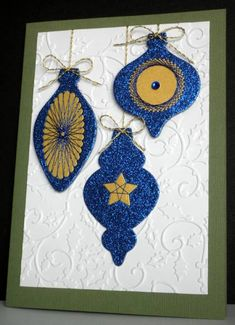 #spirelli SU!, and Spellbinders ornaments by mother's daughter - at Splitcoaststampers  visit me at My Personal blog: http://stampingwithbibiana.blogspot.com/