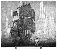 FranklinBooth-ManAndShip-full.jpg (1030×907)