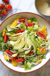 Summer Corn, Tomato and Avocado Salad with Creamy Buttermilk-Dijon Dressing