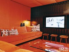 Contemporary Media Game Room By MR Architecture Decor In New York