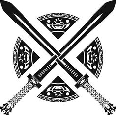 Celtic sword tattoo design