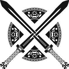 Celtic sword tattoo design