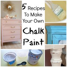 Unsanded grout n concrete mix same thing apparently. Chalk paint is a huge trend among crafters and especially with those who upcycle pieces of furniture. It provides you with a beautiful finish and it's a fairly easy process to do yourself. However, di Diy Chalk Paint Recipe, Make Chalk Paint, Homemade Chalk Paint, Chalk Paint Projects, Chalk Paint Furniture, Paint Stain, Caulk Paint, Furniture Makeover, Diy Furniture