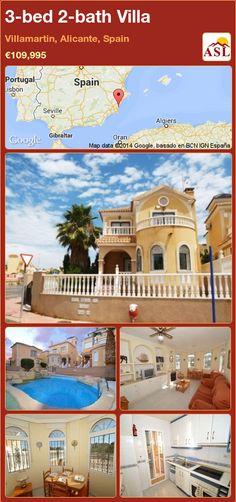3-bed 2-bath Villa in Villamartin, Alicante, Spain ►€109,995 #PropertyForSaleInSpain