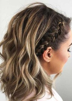 top 70 Best Braided Hairstyles For Short Hair Pictures And Tips 30 Cute Braided Hairstyles Fo. 70 Best Braided Hairstyles For Short Hair Pictures And Tips, braids hairstyles 30 Cute Braided Hairstyles For Short Hair Braided Hairstyles For Wedding, Short Wedding Hair, Cool Hairstyles, Hairstyles 2018, Hairstyle Ideas, Homecoming Hairstyles Short Hair, Formal Hairstyles For Short Hair, Hair Ideas, Hairstyles Pictures