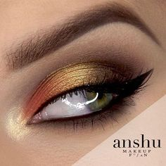 Tutorial to this look is in my bio :) Look inspired by autumn :) Products: @makeupgeekcosmetics Mocha Morocco Americano Foiled Eyeshadow in Untamed Duochrome Eyeshadow in Karma Duochrome Eyeshadow in Voltage Gel Liner in Immortal  @anastasiabeverlyhills brow pomade  #makeup #beauty #look #tutorial #autumn #eyemakeup #eyeliner #eyelashes #brow #vegas_nay #wakeupandmakeup #universodamaquiagem_oficial #fiercesociety #cosmetic #cosmetics #makeupgeek #anastasiabeverlyhills #color #style…