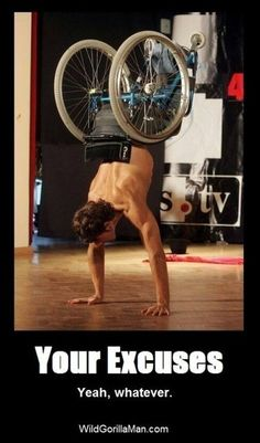 Bodybuilding &  Fitness ~ Amazing hand stands. What's your excuse?