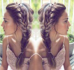 French Braided Hair Idea,Dutch Braids, braid crown with side braid,leisure and lovely look