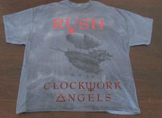 "RUSH ""Clockwork Angels"" tour t-shirt XL prog metal yes led zeppelin rainbow + CD"