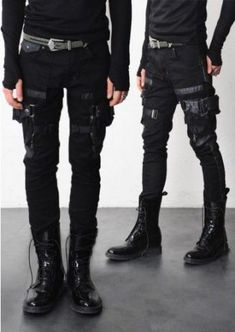 Combat Cargo pants menswear post apocalyptic fashion health goth streetwear neo … - All For Health Dark Fashion, Gothic Fashion, Mens Fashion, Trendy Fashion, Style Fashion, Fashion Ideas, Fashion Design, Workwear Fashion, Fashion Menswear