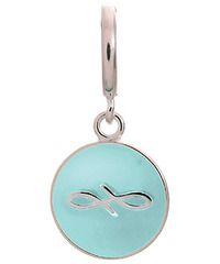 Endless Sterling Silver Light Blue Endless Coin Charm