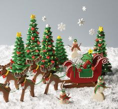"""3-D Christmas-scape from """"Ultimate Cookies"""" by Julia M. Usher"""