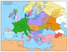 Европа след смъртта на Карл Велики 814 година / Europe after the death of Charles the Great, 814 AD.
