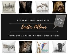 INDOOR & OUTDOOR PILLOWS! Accent your home with custom Indoor pillows from our wildlife collection and make yourself the envy of the neighborhood. Made from 100% grade A cotton, these pillows are the perfect complement to your couch! Visit our inXS Wildlife Online Store at Zazzle.