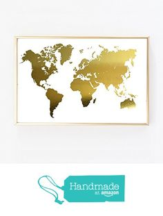 Wanderlust world map gold foil art print travel world traveler gold foil print world map us adventure wall art poster 0113 from artlantida https gumiabroncs