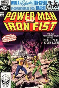 Power Man and Iron Fist Marvel Comics VF/+ Double-sized Painted Cover 1981 Book Cover Art, Comic Book Covers, Book Art, Comic Book Characters, Comic Books Art, Comic Art, Alter Ego, Iron Fist Comic, Marvel Comics