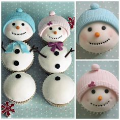 Snowman and his Snowgirl holding hands, well, sticks - by Just Because CaKes @ CakesDecor.com - cake decorating website
