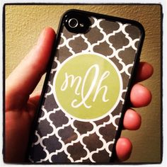 DIY monogram iPhone case - Griffin Reveal case, design, print, trace and exacto knife! Change it up at anytime!