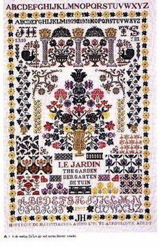 Jan Houtman Designs Chart - Garden Sampler