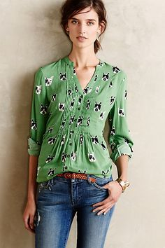 composed pin tuck buttondowns #anthrofave #anthropologie